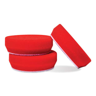 "3"" Red Foam Waxing Pads, Set of 3"