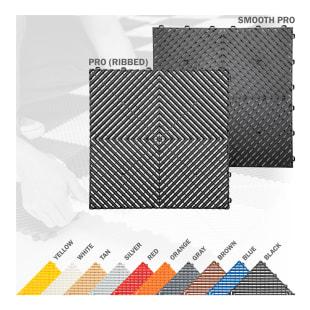 Swisstrax Ribtrax® Pro Floor Tile, 6 Pack