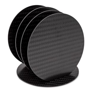 Carbon Fiber Coasters, Set of 5
