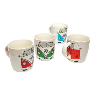 VW Microbus Coffee Mugs, Set of 4