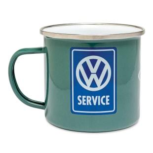 VW Service Enamel Mug