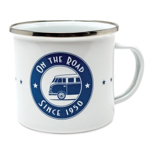 On the Road Enamel Mug