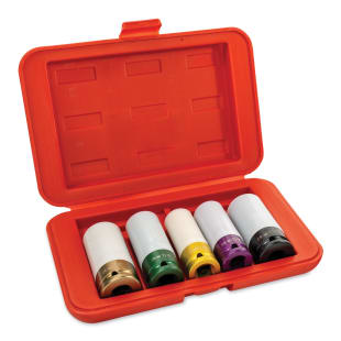 5-Piece Standard Protective Lug Nut Socket Set