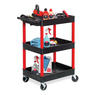 Rolling Garage Cart With Outlets
